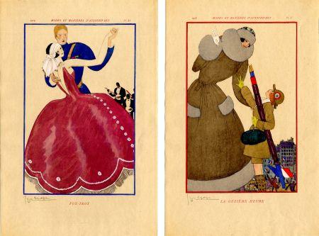 Illustrated Book Lepape - MODES ET MANIÈRES D'AUJOURD' HUI. Années de Guerre. 1914-1919