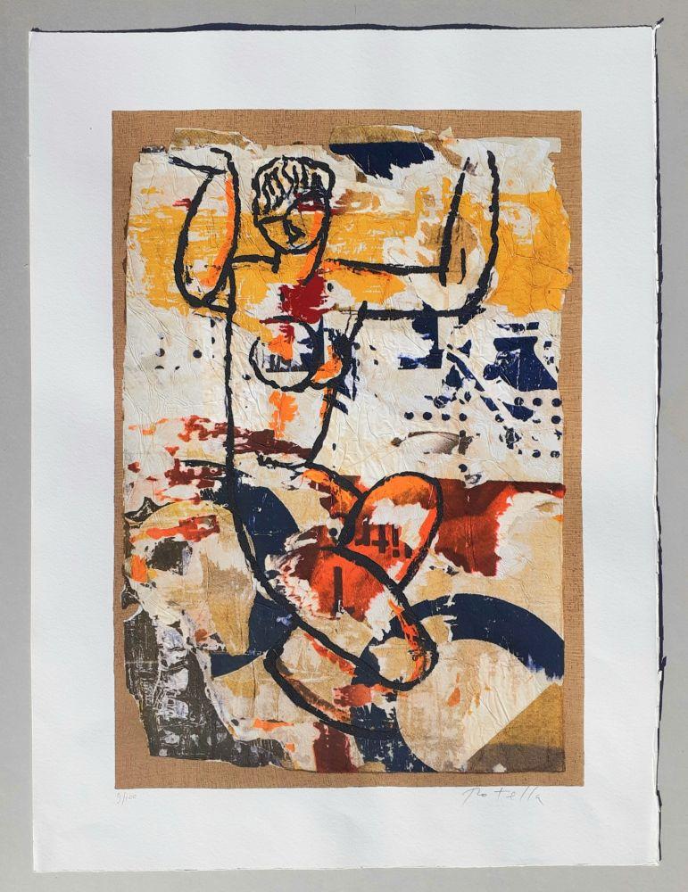 Screenprint Rotella - Modigliani