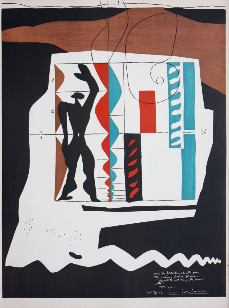 Lithograph Le Corbusier - Modulor