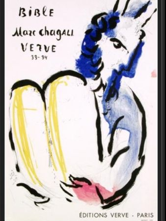 Lithograph Chagall - MOISE EDITION VERVE
