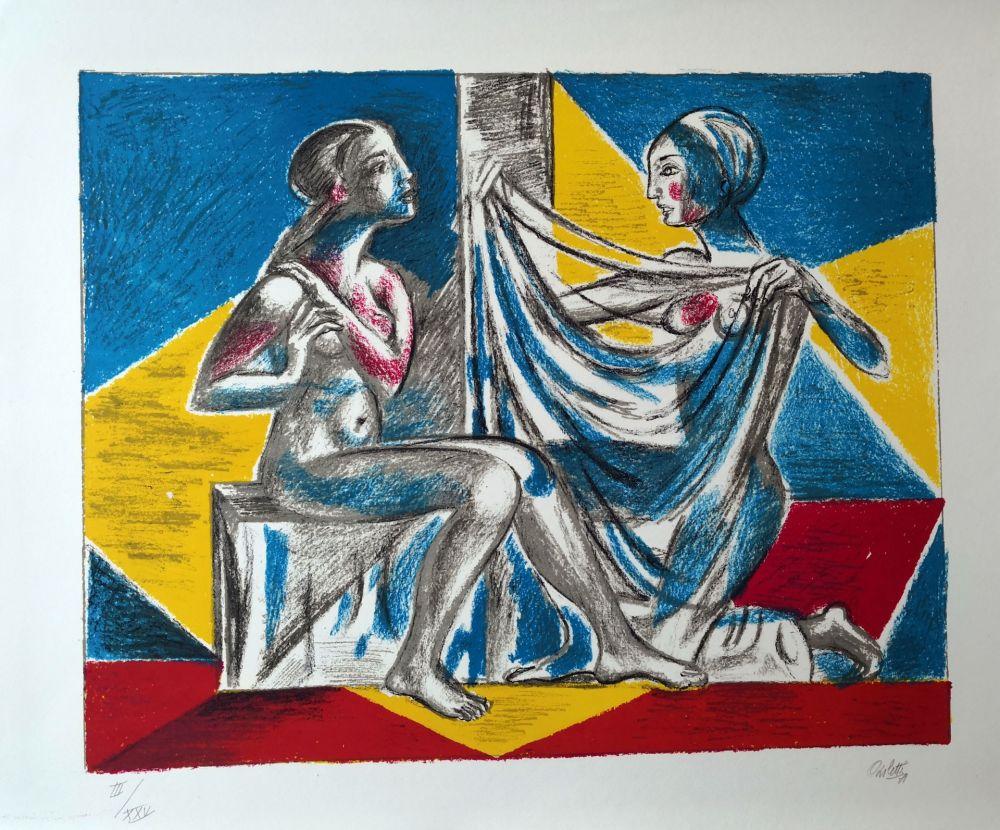 Lithograph Carletti - Momenti Biblici 2