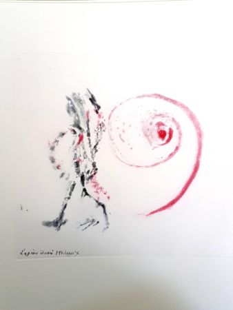Lithograph Michaux - Moments