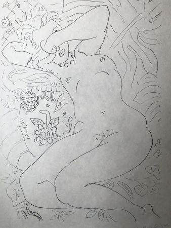 Lithograph Matisse - Moments de timidité 45X60 CM EDITION CAHIERS D'ART