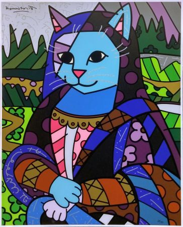 Screenprint Britto - MONA CAT