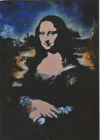 Screenprint Blek Le Rat - Mona Lisa