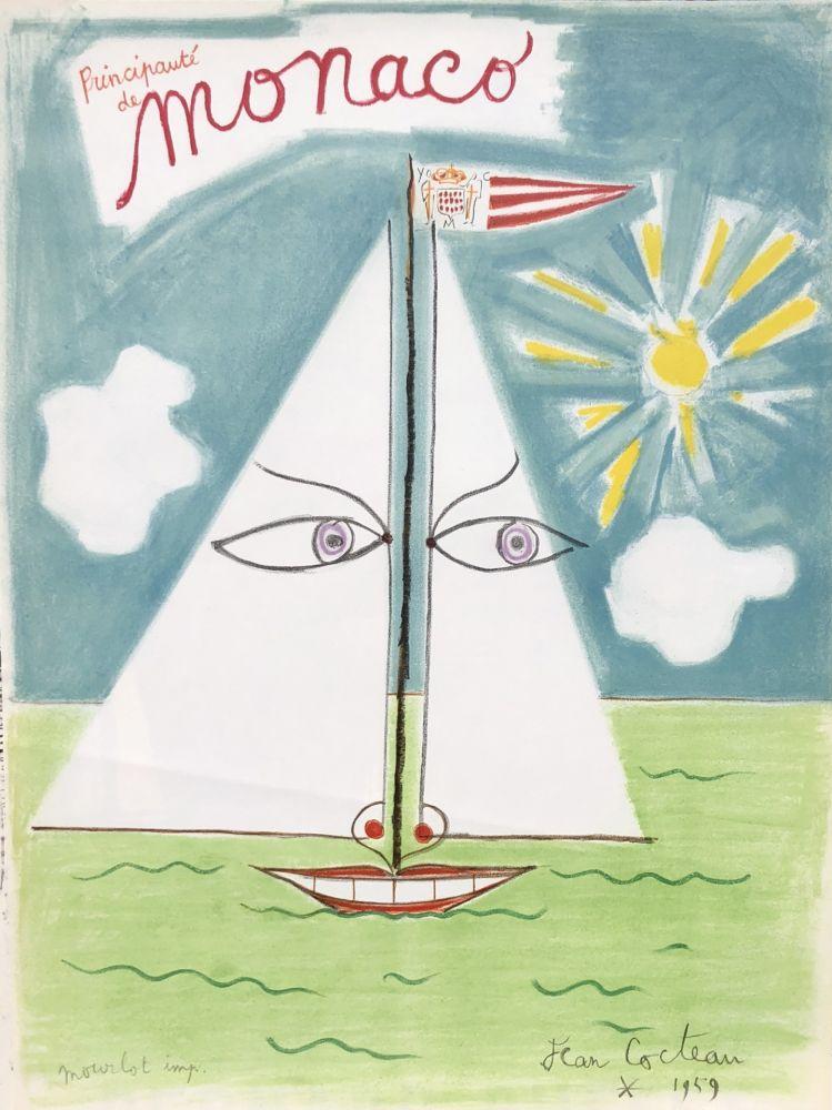 Lithograph Cocteau - Monaco