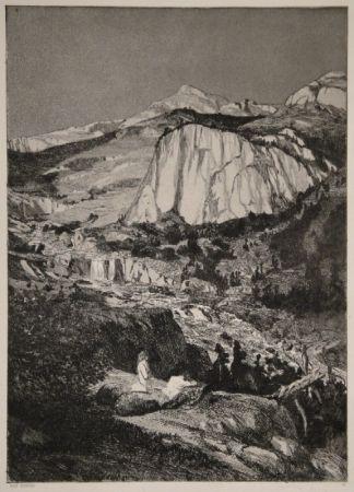 Etching And Aquatint Klinger - Mondnacht