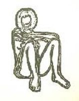 Lithograph Wesselmann - Monica sitting with elbows on knees