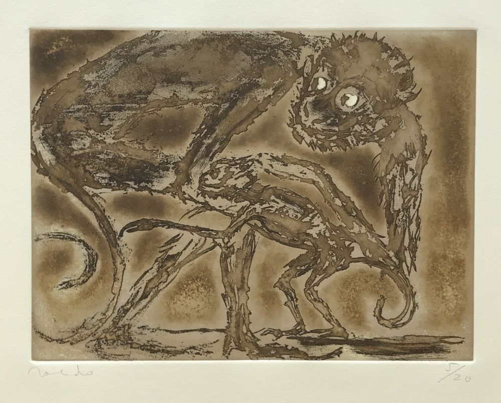 Etching Toledo - Monkey and Toad