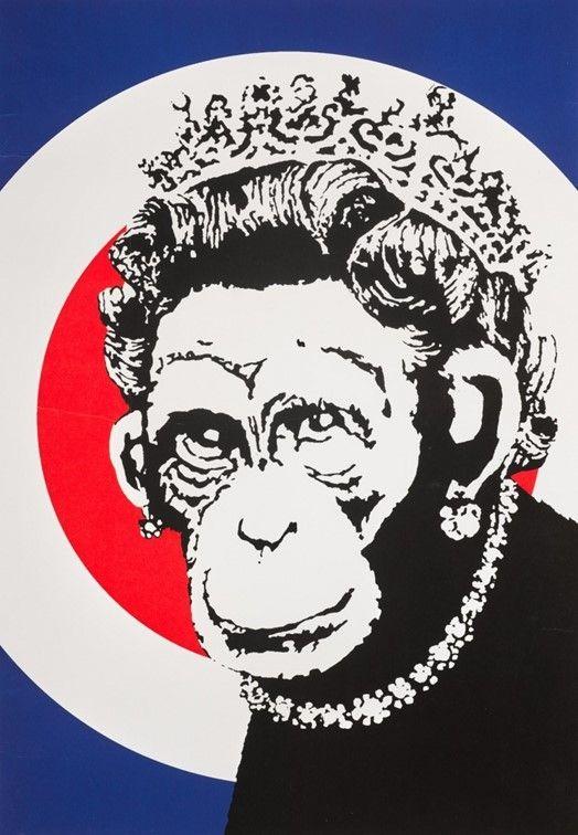 Screenprint Banksy - Monkey Queen
