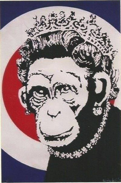 Screenprint Banksy - Monkey Queen