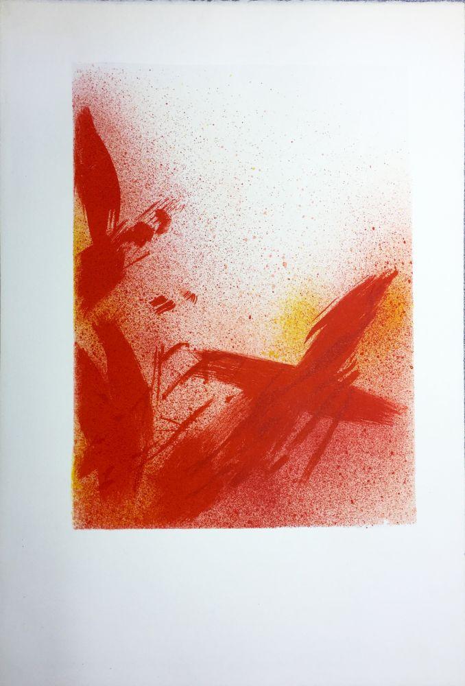 Lithograph Bazaine - MONOGRAPHIE EN ROUGE (1975) sur vélin d'Arches.