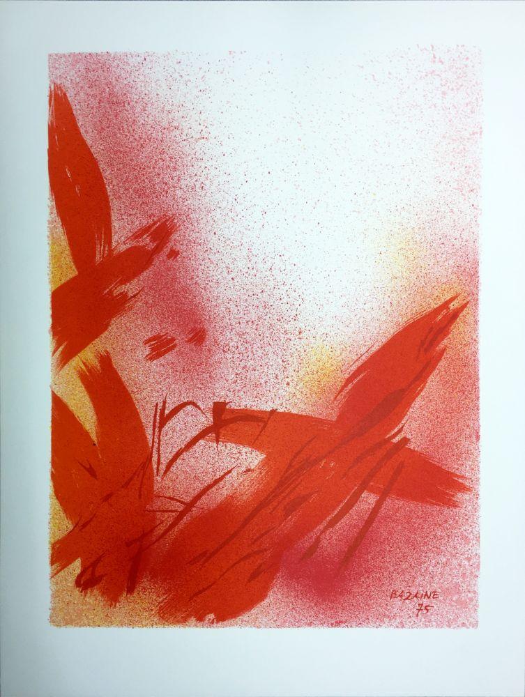 Lithograph Bazaine - MONOGRAPHIE EN ROUGE (1975) sur vélin de Rives.