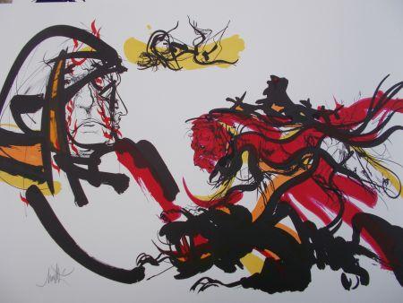 Lithograph Moretti - Monstre,Peste,Ulcére