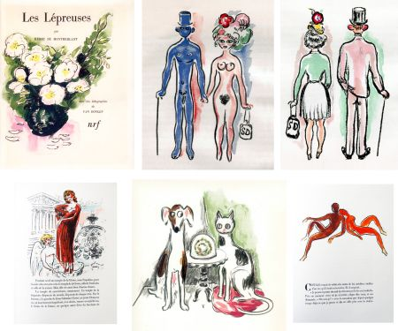 Illustrated Book Van Dongen - Montherlant. LES LÉPREUSES. 25 lithographies originales en couleurs (1947)