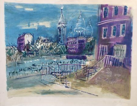 Lithograph Dufy - Montmartre