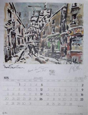 Offset Paul  - MONTMARTRE - BON A TIRER/FINAL PROOF- Calendrier 1975 / calendar 1975