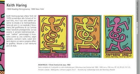 Screenprint Haring - Montreux - 17Th Festival De Jazz