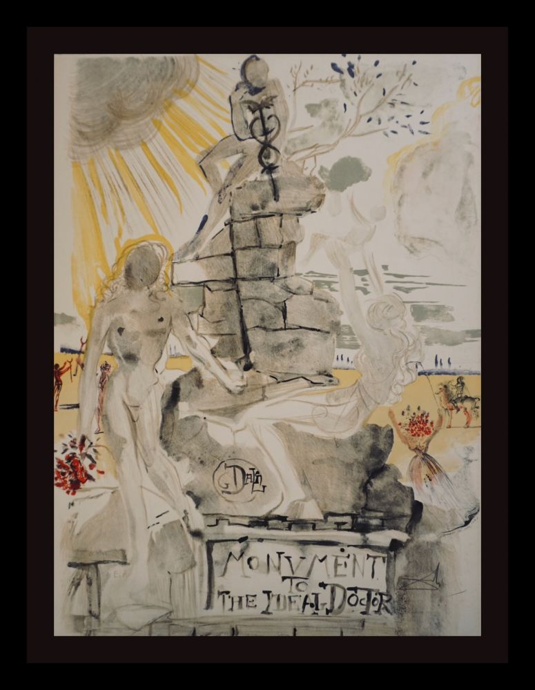 Lithograph Dali - Monument To The Ideal Doctor