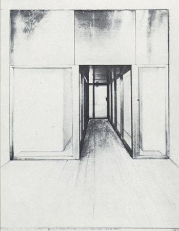 Screenprint Christo - Monuments, Store Front Corridor