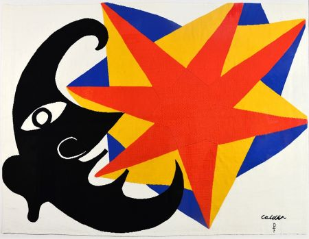 No Technical Calder - Moon and Star Tapestry