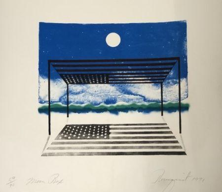 Lithograph Rosenquist - Moon box