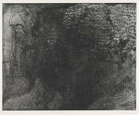 Etching And Aquatint Nevelson - Moon Lady