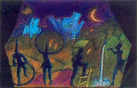 Etching And Aquatint Almaraz - Moonlight Theatre