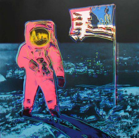 Screenprint Warhol - Moonwalk, Blue and Pink (FS II.405)