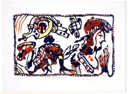 Lithograph Alechinsky - Morceaux Choisis