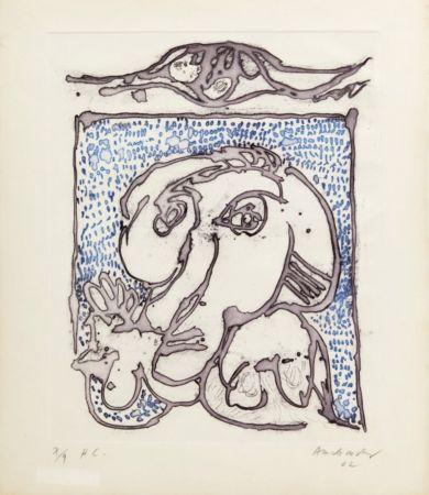 Aquatint Alechinsky - Morsures VIII