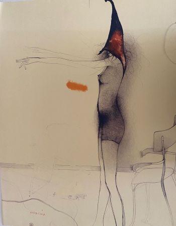 Lithograph Bruni - Mosca cieca