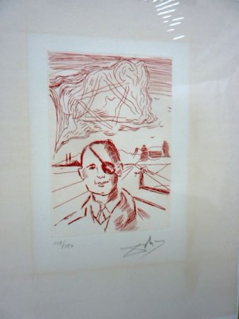 Etching Dali - Moshe Dayan (Five Famous Heads)