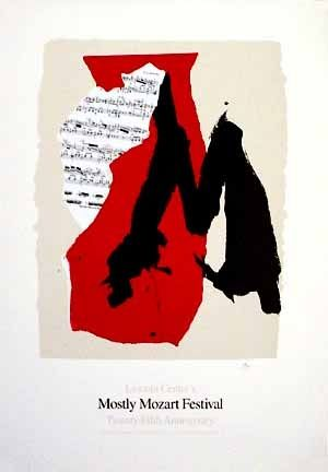 Lithograph Motherwell - Mostly Mozart