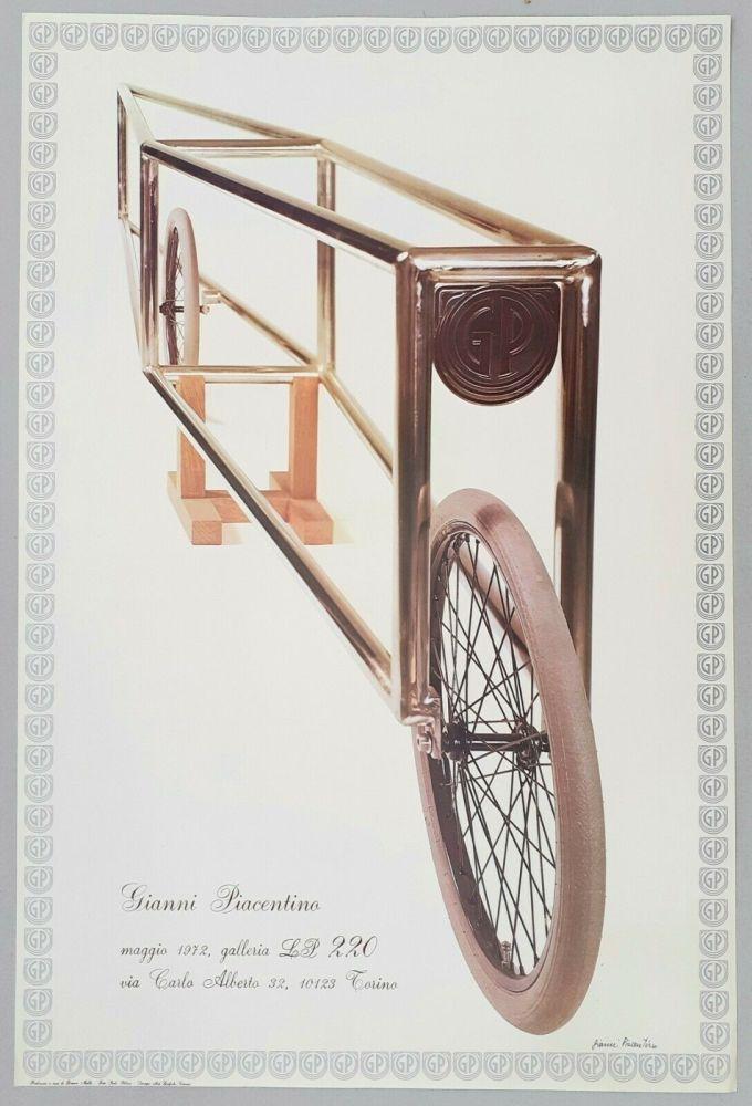 Lithograph Piacentino - Mostra Galleria LP220, 1972 - Manifesto firmato