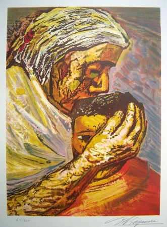 Lithograph Siqueiros - Mother and Child