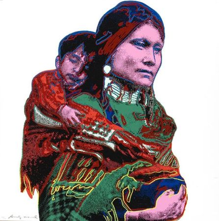 Screenprint Warhol - Mother And Child
