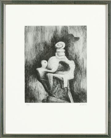 Engraving Moore - Mother and Child, 1979