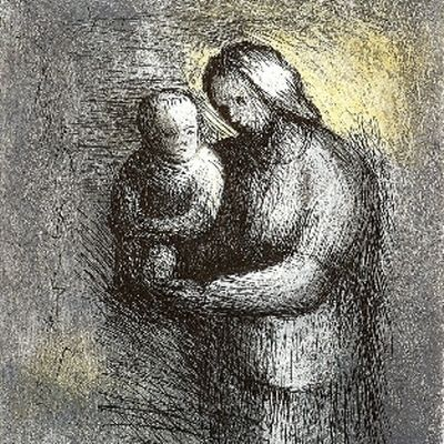 Etching And Aquatint Moore - Mother & Child I