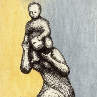 Etching And Aquatint Moore - Mother & Child VIII