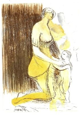 Etching Moore - MOTHER & CHILD XXVI,1983