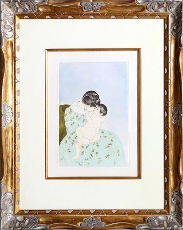 Etching Cassatt - Mother's Kiss