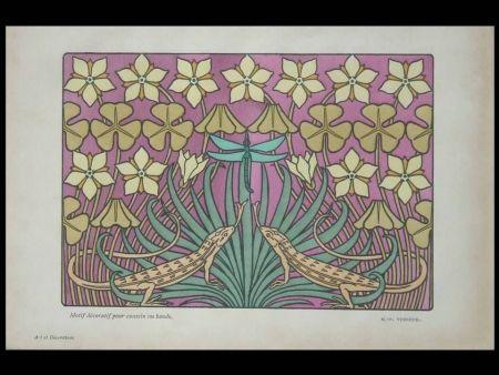 Lithograph Verneuil - Motif décoratif pour coussin ou bande