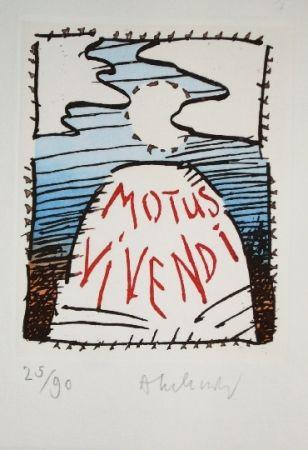 Etching And Aquatint Alechinsky - MOTUS VIVENDI