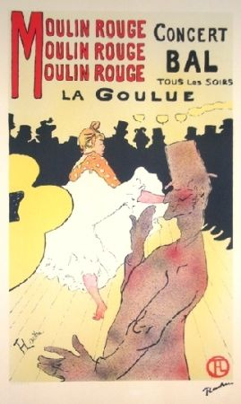 Lithograph Toulouse-Lautrec - Moulin rouge