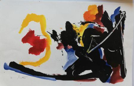 Lithograph Miotte - Mouvement