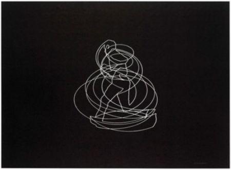 Lithograph Paris - Movimiento afectado 1