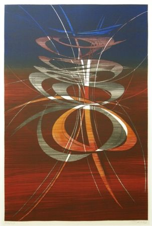 Lithograph Haass - Moving Present