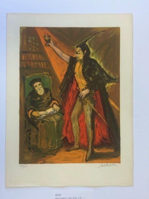 Lithograph Blatas - Moyen age