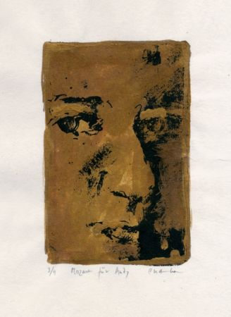 Lithograph Chambas - Mozart fur Andy